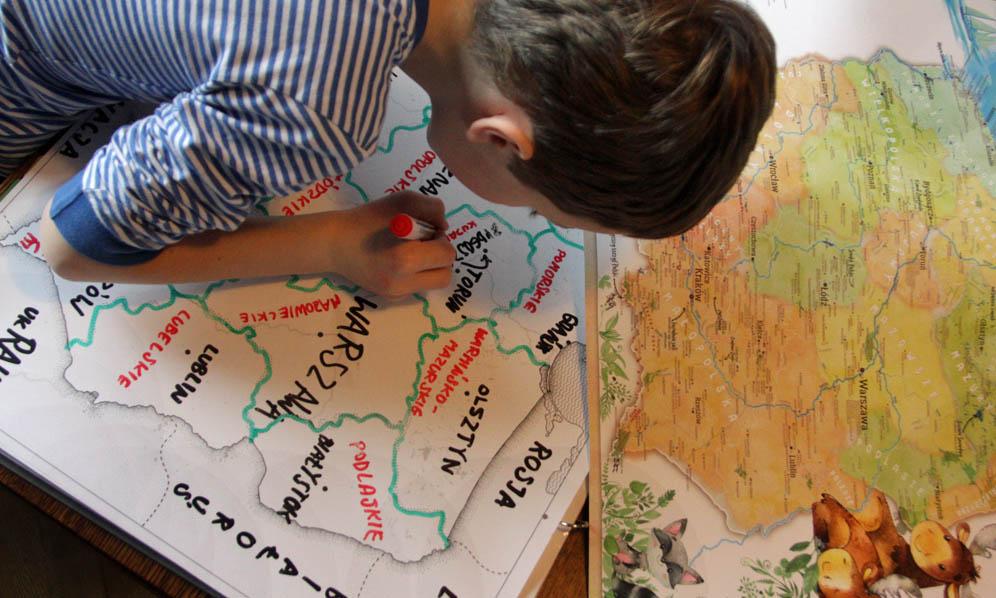 Trasa dla Bobasa testuje Mapę Polski dla dzieci